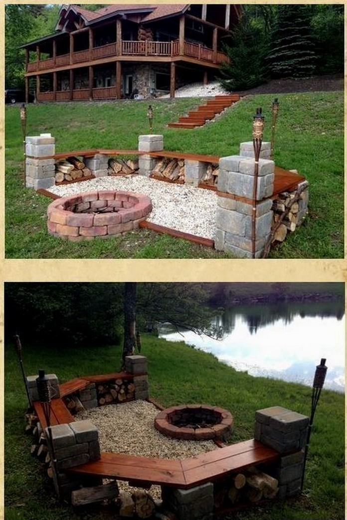 90 Fun Decoration Models Of Backyard Fire Pit Area 35