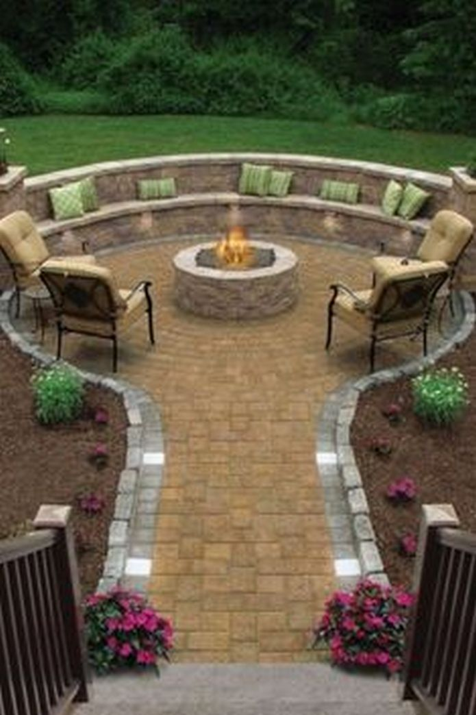 90 Fun Decoration Models Of Backyard Fire Pit Area 39