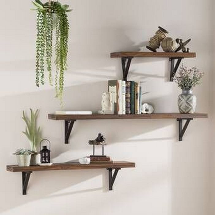 94 Wood Wall Shelves Designs That Inspire To Add To The Beauty Of Your Home Space 37