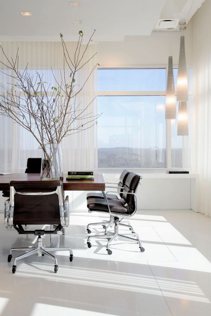 95 Modern Office Decorating Ideas With Inspiring Furniture To Add Style And Functionality To Your Workplace 40