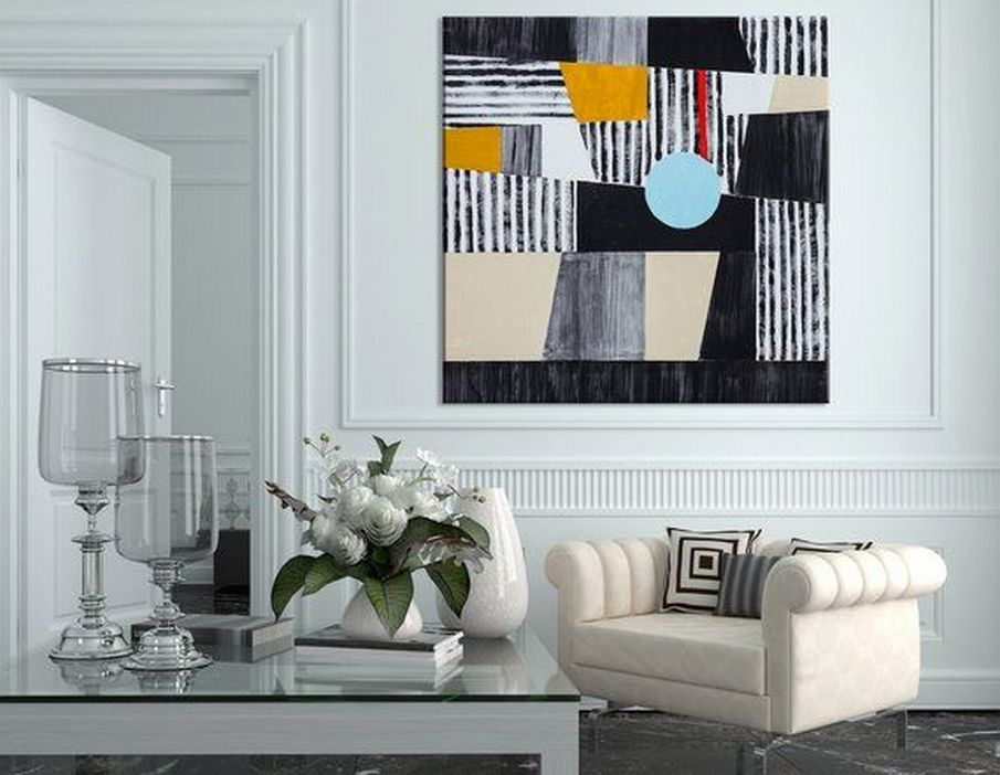 96 Modern Wall Decor Models That Make The Living Room Of Your House Come Alive 93