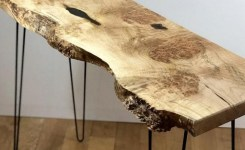 Live Edge Wood Console Table 10