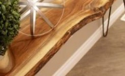 Live Edge Wood Console Table 15