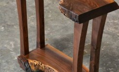 Live Edge Wood Console Table 32