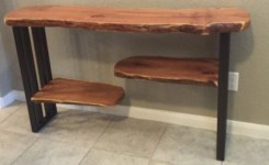 Live Edge Wood Console Table 35
