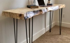 Live Edge Wood Console Table 49