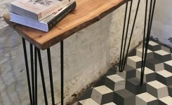 Live Edge Wood Console Table 97