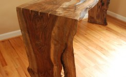 Live Edge Wood Console Table