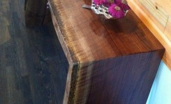 Wood Waterfall Console Table 13