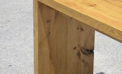 Wood Waterfall Console Table 24