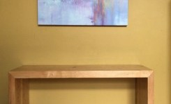 Wood Waterfall Console Table 47