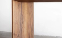 Wood Waterfall Console Table 52
