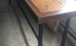 Wood Waterfall Console Table 59