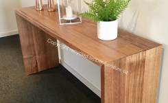 Wood Waterfall Console Table 6