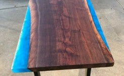 Wood Waterfall Console Table 73