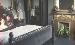 Stunning Victorian Gothic Glam Bedroom With A Gold Fireplace On Luxury Black And White Bedroom Of Luxury Black And White Bedroom