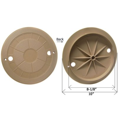CMP Tan 10 in. Water Leveler Lid Cover 25504-009-010
