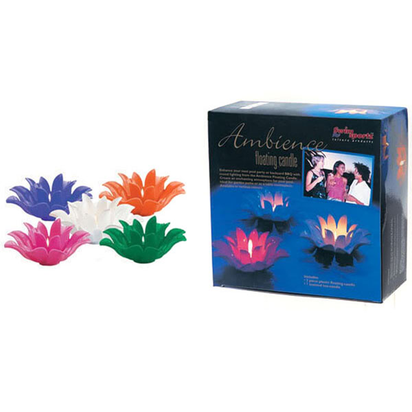 Swim Sportz Ambience Swimming Pool Floating Candle Green MFC036