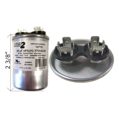 U.S. Seal Capacitor 25 MFD 370VAC RD-25-370