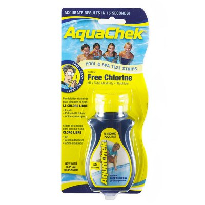 AquaChek Yellow Free Chlorine Pool & Spa Test Strips 511242A