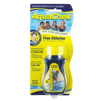 AquaChek Yellow Free Chlorine Pool & Spa Test Strips 511242A