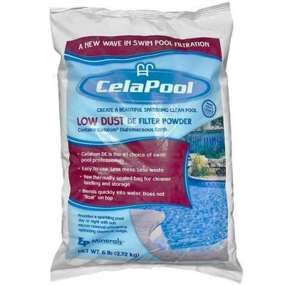 CelaPool Low Dust Swimming Pool DE Filter Media 6lb.