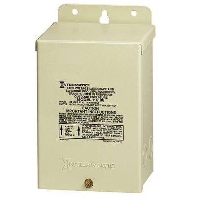 Intermatic Pool Spa Light Transformer 100W 120V to 12V PX100