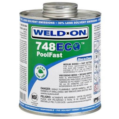 IPS Weld-On 748 ECO Pool Fast Glue 1 Pint 14872