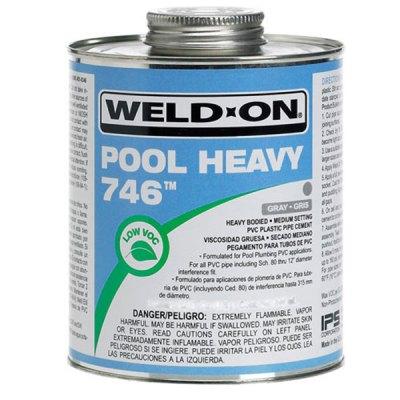 IPS Weld-On PVC 746 Pool Heavy Gray Glue 1 Pint 13568