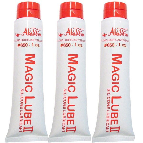 Magic Lube II 1 oz. Silicone Lubricant Sealant Aladdin 650 - 3 Pack