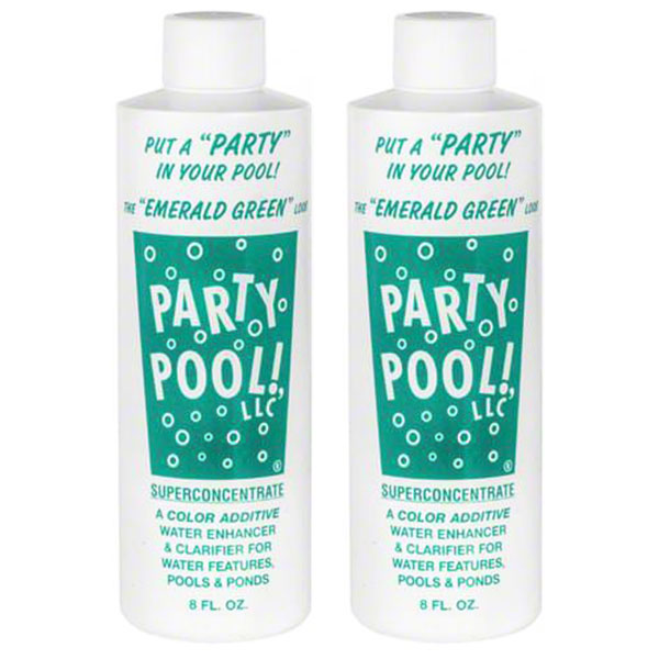 Party Pool Dye Color Additive Emerald Green 8oz 47016-00012 - 2 Pack