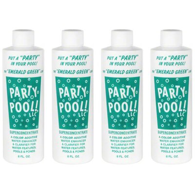 Party Pool Dye Color Additive Emerald Green 8oz 47016-00012 - 4 Pack