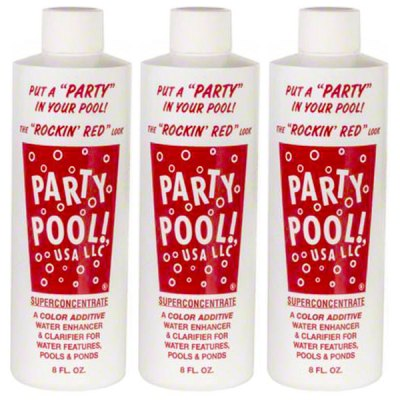 Party Pool Color Additive Rockin Red 8oz 47016-00010 - 3 Pack