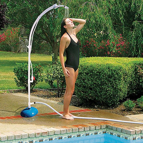 Poolmaster Portable Swimming Pool Poolside Shower 52508