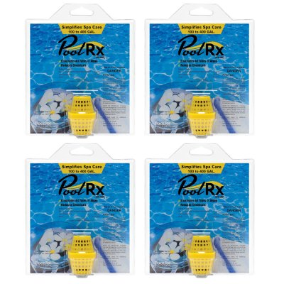 PoolRx Yellow 100-400 Gal. Small Spa Unit 101057 - 4 Pack