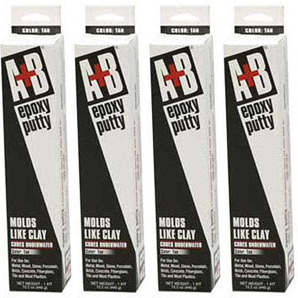 Rezolin A+B Epoxy Putty Kit 14 oz. Gray 9906K - 4 Pack