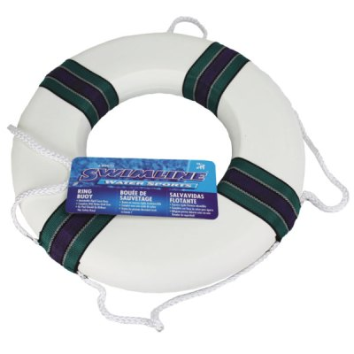 SwimLine 18in. Pool Foam Ring Buoy Life Saving Throw Ring 89870