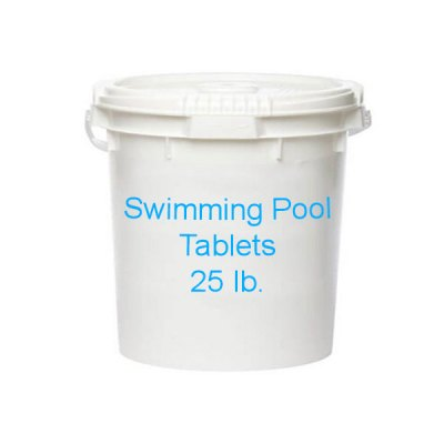Swimming Pool 3 inch Chlorine Tablets 25lb Bucket
