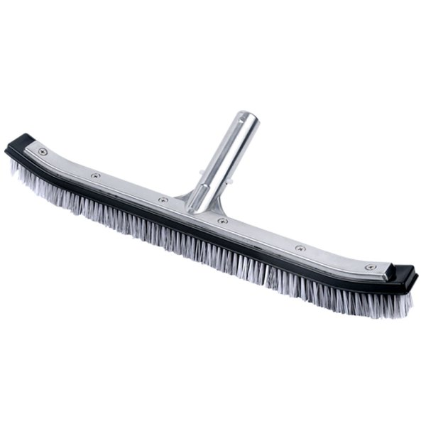 Pool Curved Stainless Steel & Nylon Bristles Brush 18 inches 11025C