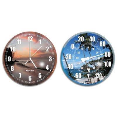 Swimming Pool Patio Wall Clock Thermometer Combo 9260
