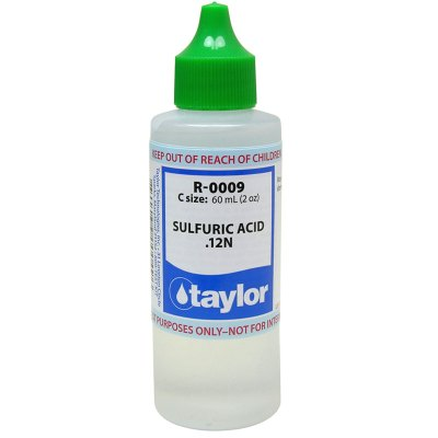 Taylor Dropper Bottle 2 oz Sulfuric Acid 12N R-0009-C