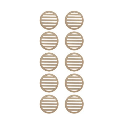 3 inch Tan Deck Drain Cover - 10 Pack