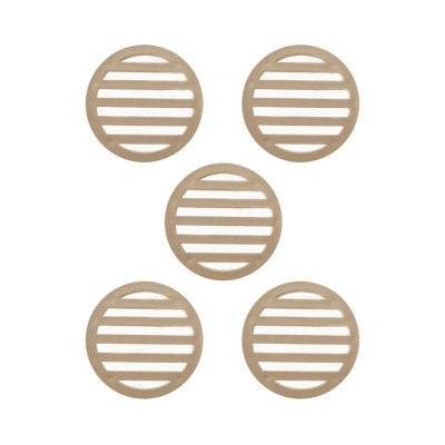 3 inch Tan Deck Drain Cover - 5 Pack