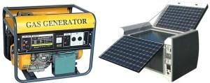 solar generator vs gas generators