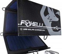 Foxelli Dual USB Folding Solar Charger 21W