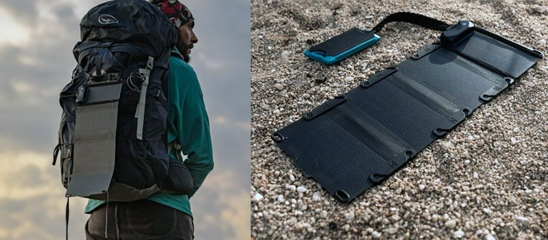 Frost Summits Series Folding Solar Charger with Solar Powre Bank