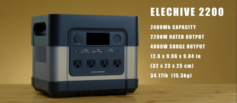 Zero Breeze ElecHive 2200 Power Station Specs and Featurs at a Glance