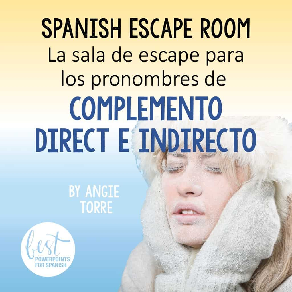 Spanish Object Pronouns Escape Room