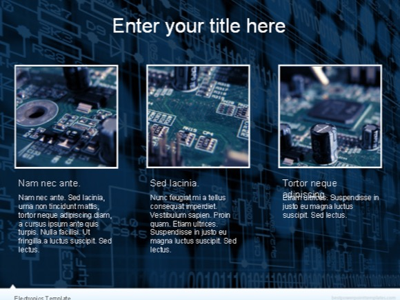 Electronics powerpoint template free toneelgroepblik Choice Image