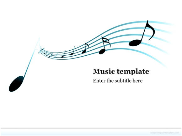 music powerpoint template free